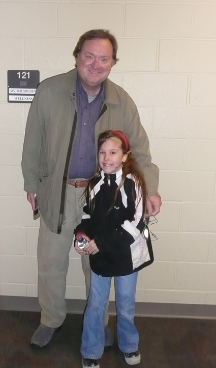 Tim Russert with daughter