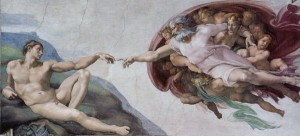 God of Abraham Creation of Adam