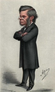 "Thomas Henry Huxley (1825-1895)--""Darwin's Bulldog""--Caricature by ""Ape"" in Vanity Fair, July 24, 1869."