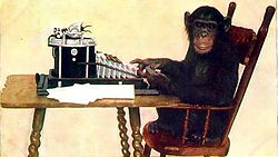 A monkey at the keyboard