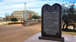 Oklahoma, US 10 Commandments Monument banned by the State Supreme Court in a 2015 decision
